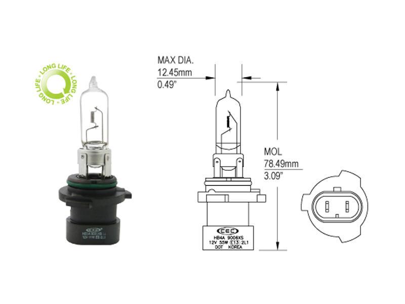 9005XSLL Long-Life Headlight Bulb - Application Specific