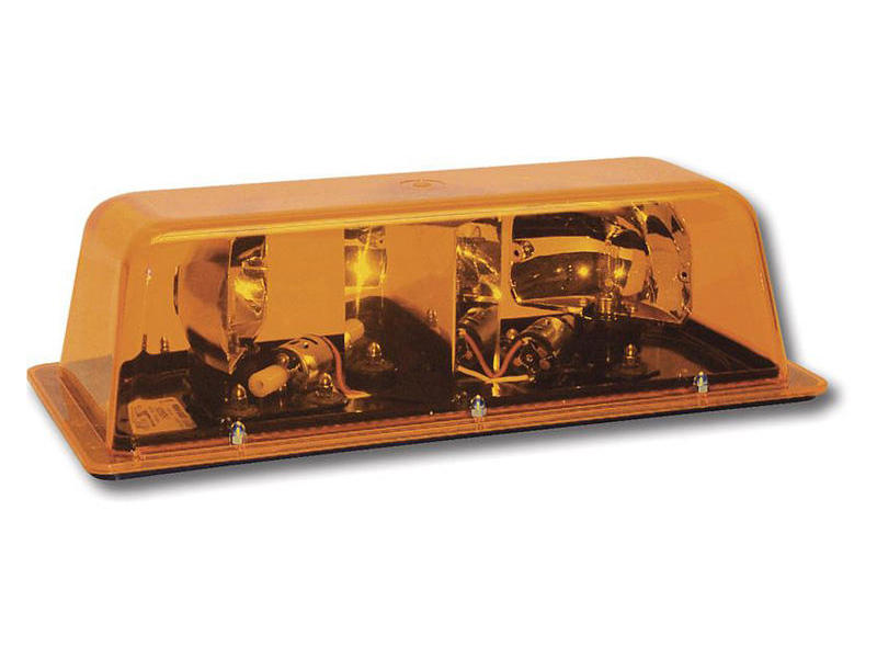 Star Mini-bar® Amber Rotating Beacon (Magnetic Mount)