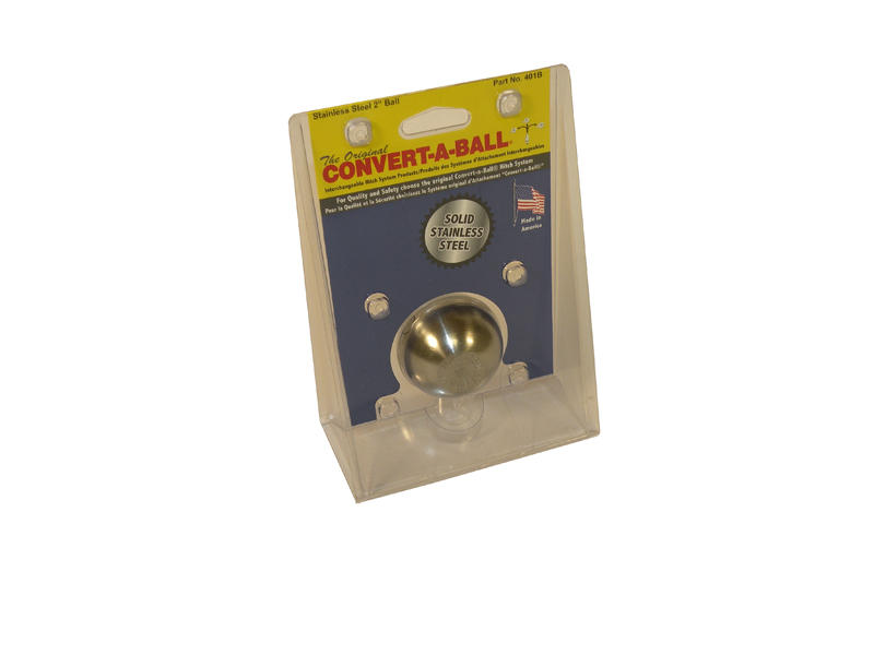Convert-A-Ball 2 inch Stainless Steel Hitch Ball Only