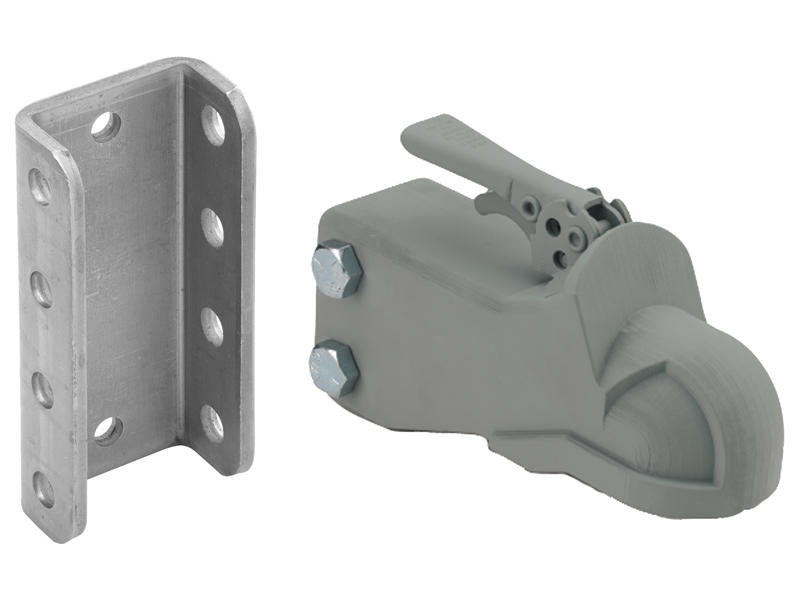 2 Inch Adjustable Cast Coupler w/Channel and Hardware