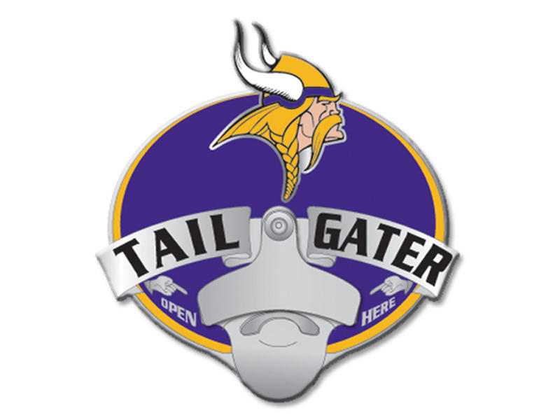 Minnesota Vikings Tailgater Hitch Cover with Bottle Opener