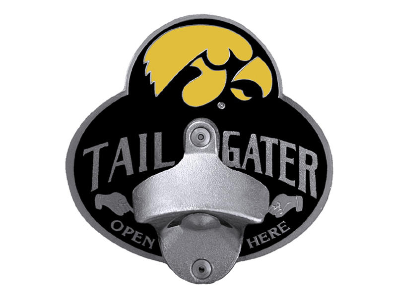 Iowa Hawkeyes Tailgater Hitch Cover with Bottle Opener