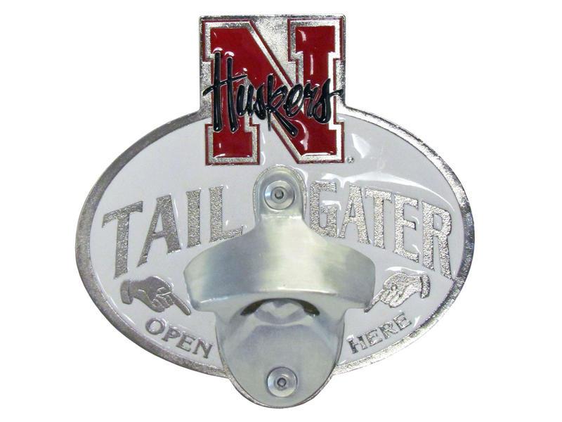 Nebraska Cornhuskers Tailgater Hitch Cover with Bottle Opener