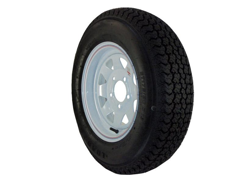 As 17513c 13 Inch Trailer Tire And Spoked Wheel Assembly