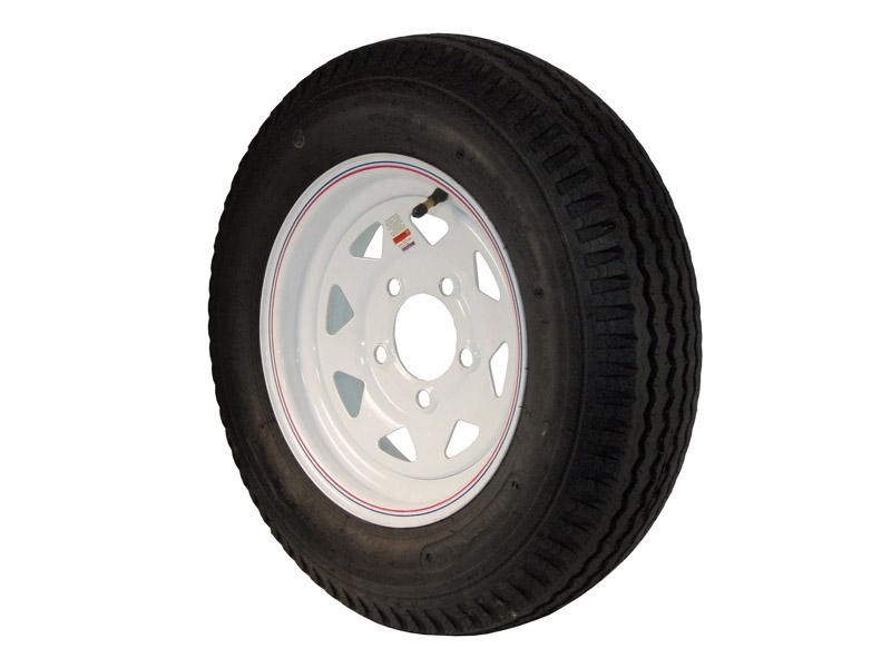 12 inch Trailer Tire and Spoked Wheel Assembly