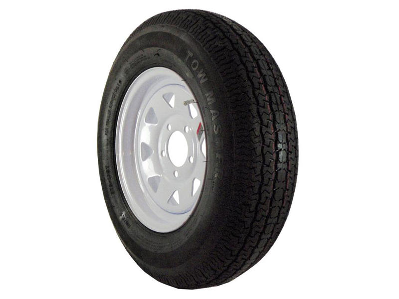 As 78135c 13 Inch Trailer Tire And Spoked Wheel Assembly