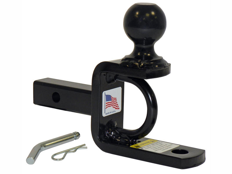 ATV/UTV Ball Mount With 2 Inch Hitch Ball For 1-1/4 Inch Receivers