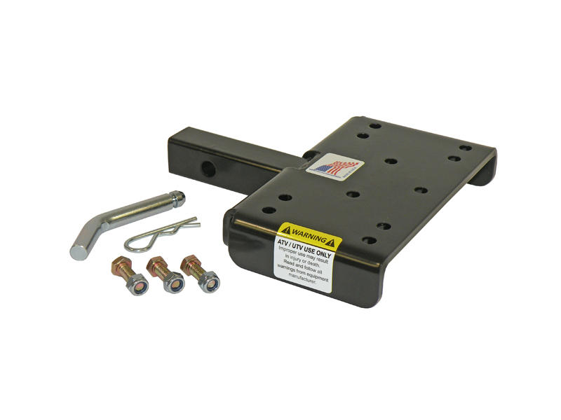ATV/UTV Winch Mounting Plate For 1-1/4 Inch Receivers - Made In U.S.A.