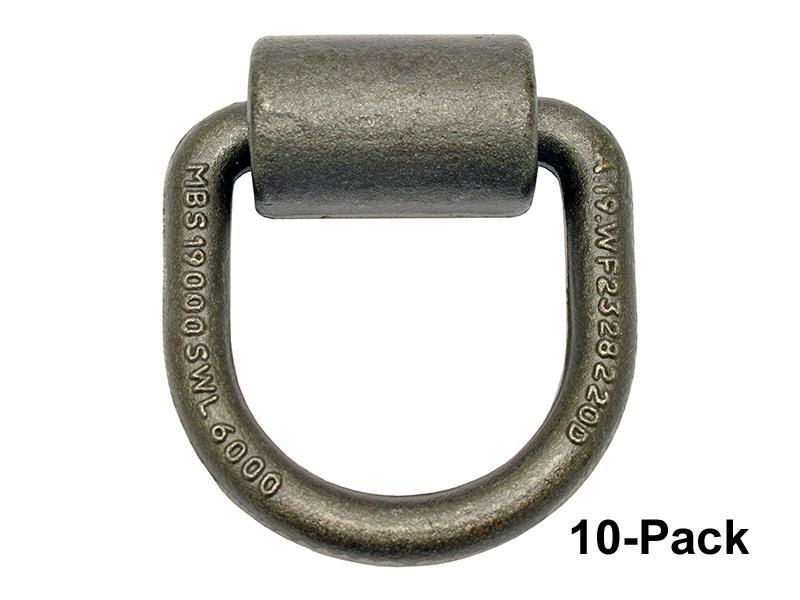 Heavy Duty Weld-On Tie-Down Ring - 10-Pack