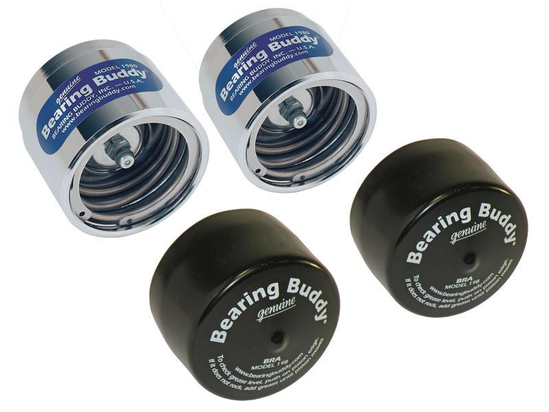 "Bearing Buddy® Chrome Bearing Protectors With Bras - Pair - 1.980"" Diameter"