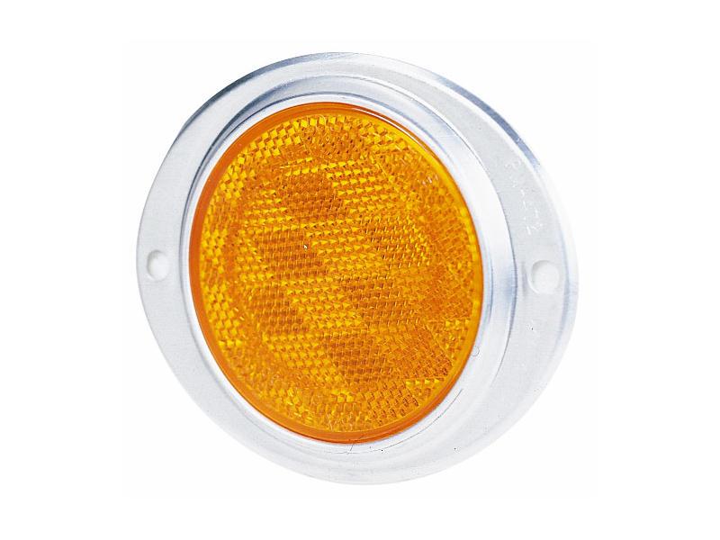 Aluminum Oval Reflector- Amber