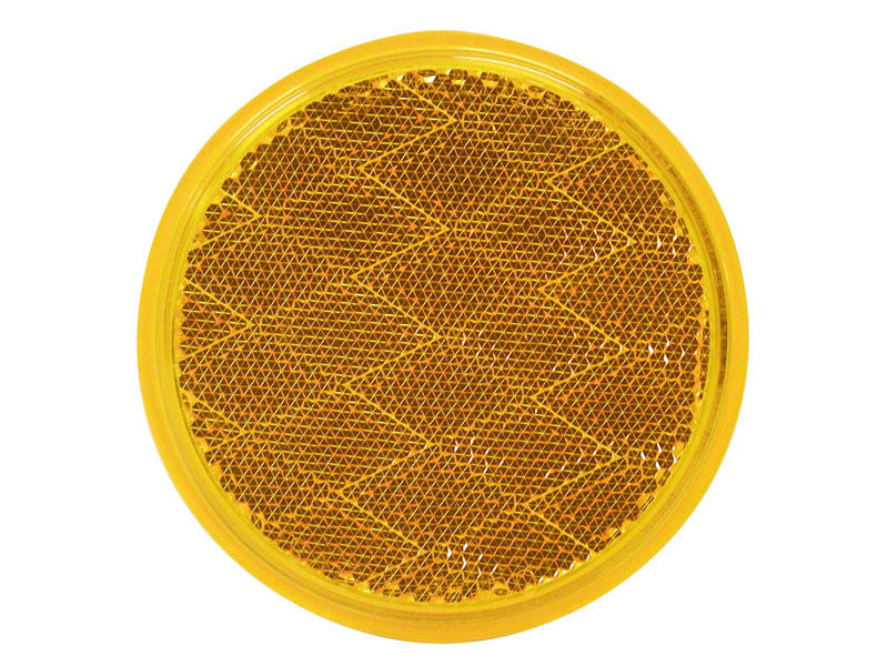 Round Quick-Mount Amber Reflector