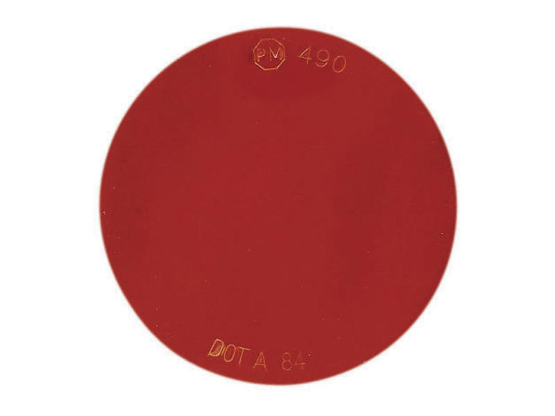 Quick Mount Round Reflector - Red
