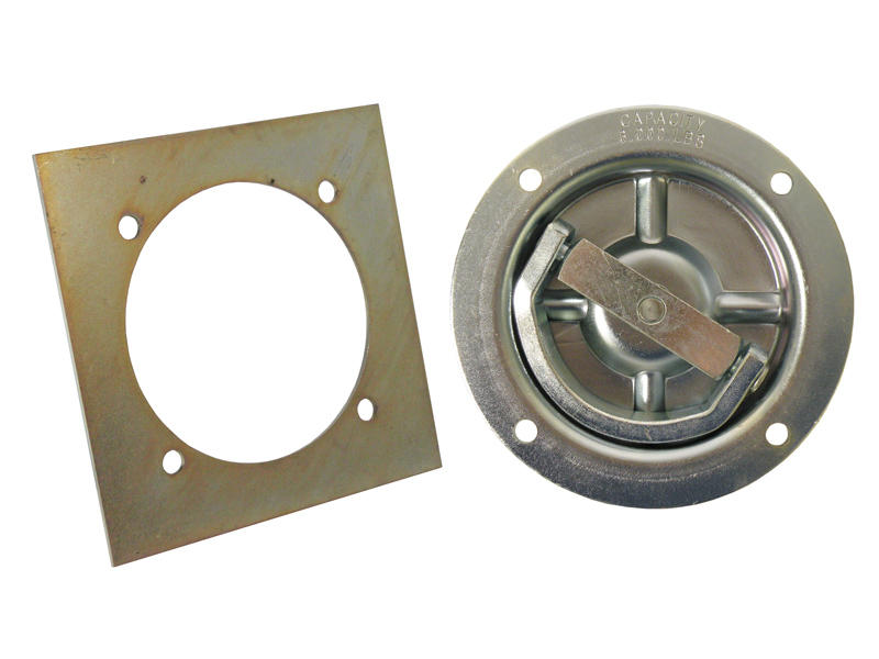 Recessed Heavy Duty Tie Down Ring With Backing Plate