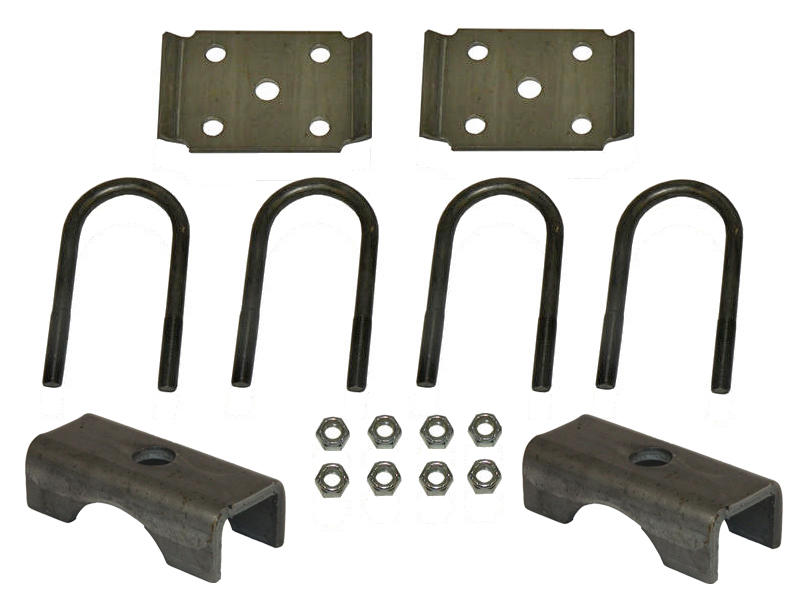 U-Bolt Mounting Kit For 3,500 lb Axles with 2-3/8 Inch Round Tube Diameter