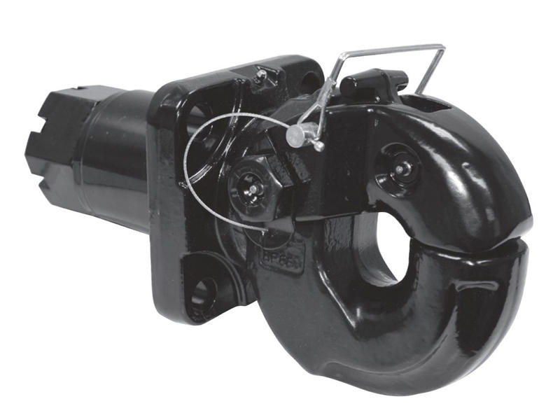 50 Ton Forged Swivel-Type Pintle Hook - Commercial Mount