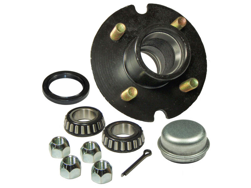Trailer Hub Assembly - 1-1/16 inch I.D. Bearings