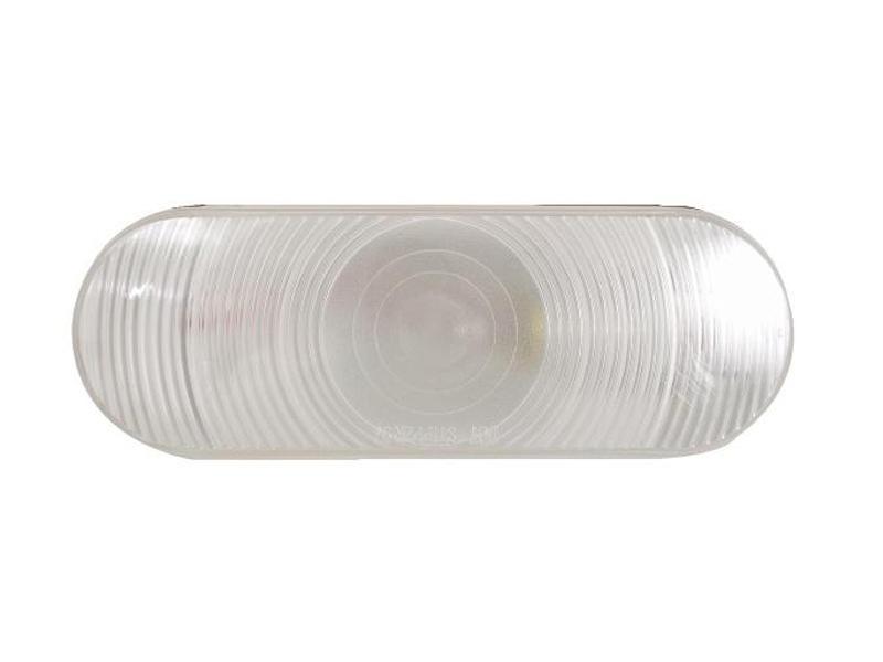 "6"" Oval Clear Lens Back-Up Light-Flush Mount"