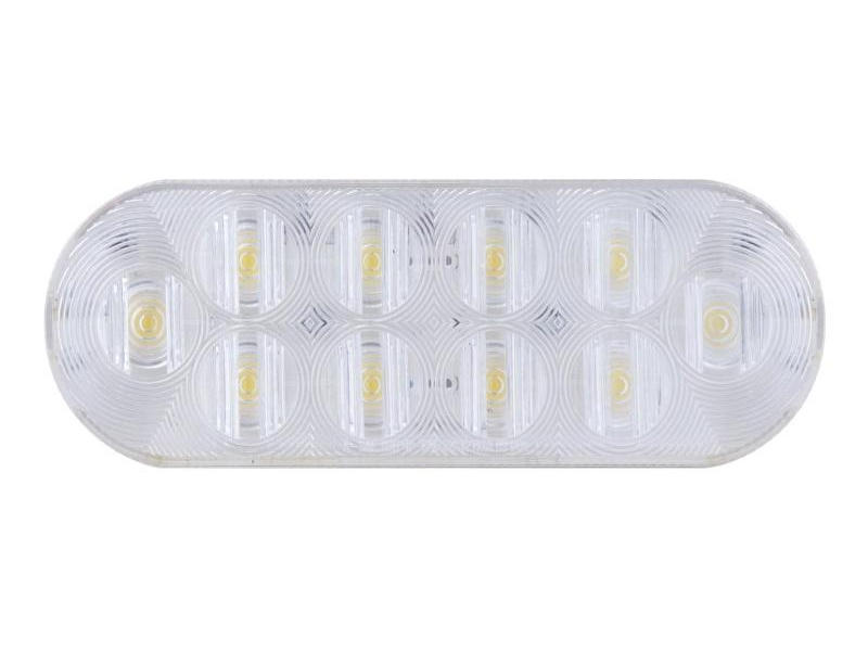 "6"" Oval LED Clear Lens Back-Up Light- Flush Mount"