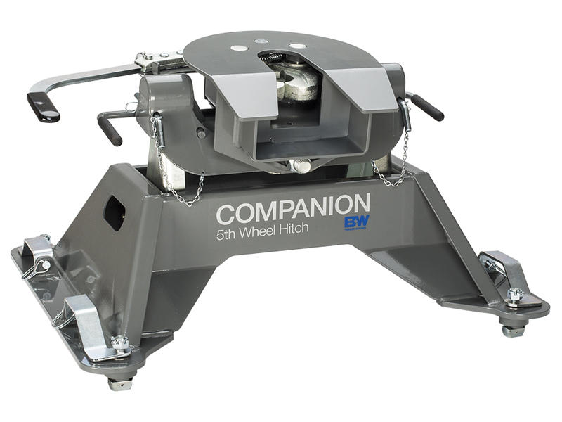 B&W Companion Fifth Wheel Hitch For 2016-2019 GM 2500/3500 Equipped With OEM Under-Bed Prep Package
