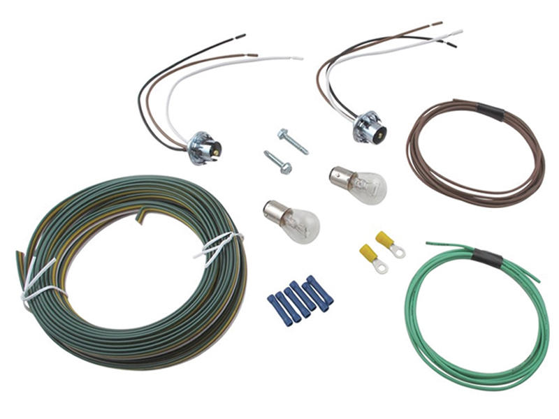 blue ox bx8869 tail light wiring kit bulb and socket rh reese hitches com