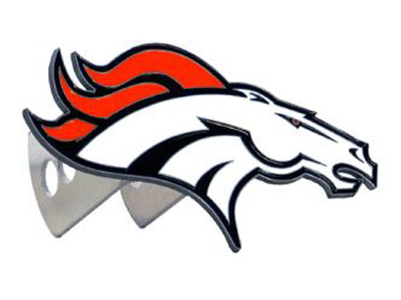 Denver Broncos Large Hitch Cover - Fits Class II 1-1/4 Inch and Class III/IV 2 Inch Receivers