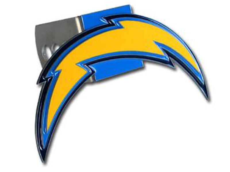 Los Angeles Chargers Large Hitch Cover - Fits Class II 1-1/4 Inch and Class III/IV 2 Inch Receivers