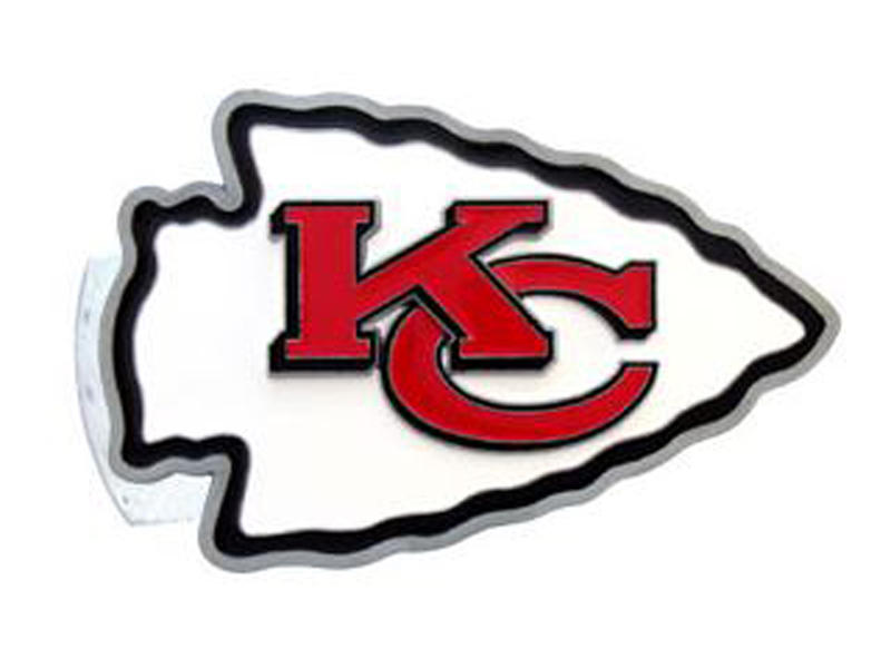 Kansas City Chiefs Large Hitch Cover - Fits Class II 1-1/4 Inch and Class III/IV 2 Inch Receivers