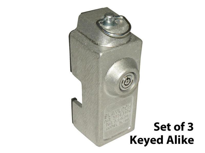Blaylock Trailer Door Shackle Locks - Set of 3 Keyed Alike