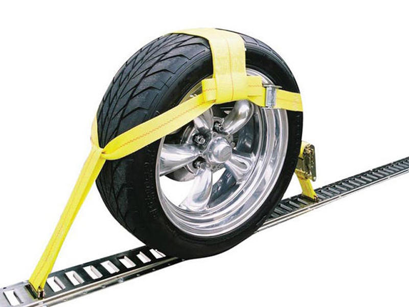 Over The Wheel E-Track Ratchet Tie-Down Strap