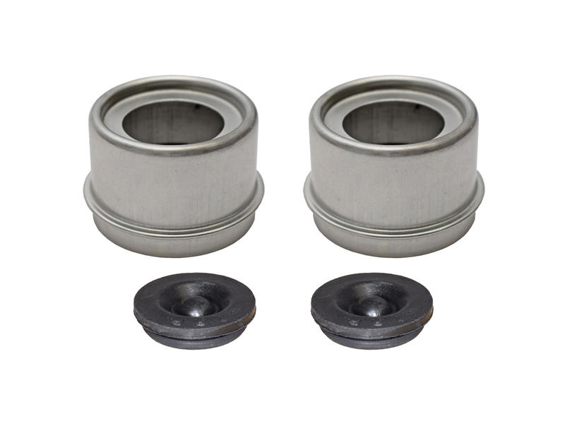 E-Z Lube Grease Caps With Rubber Plugs - Pair