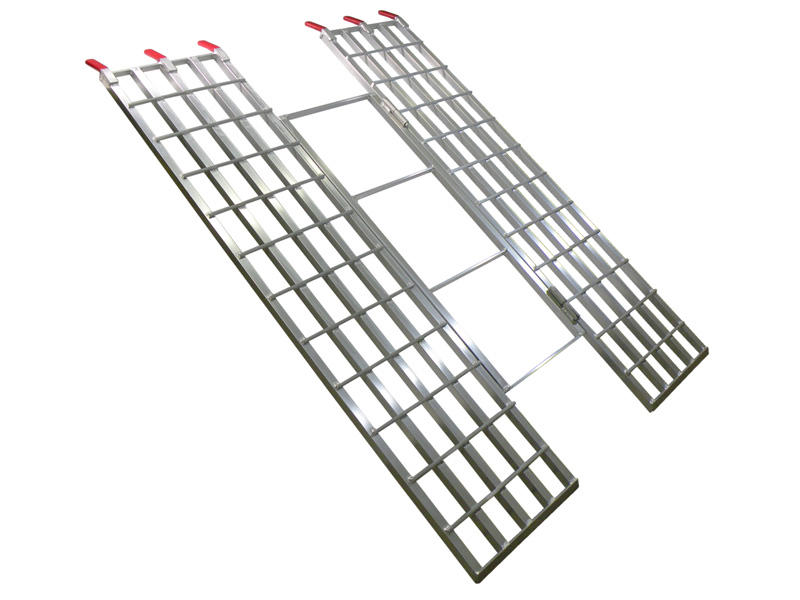 "Aluminum Tri-Fold Loading Ramps - 7 feet long x 51"" wide"