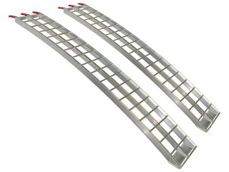 Arched Aluminum Loading Ramps - 9 feet x 12 inches