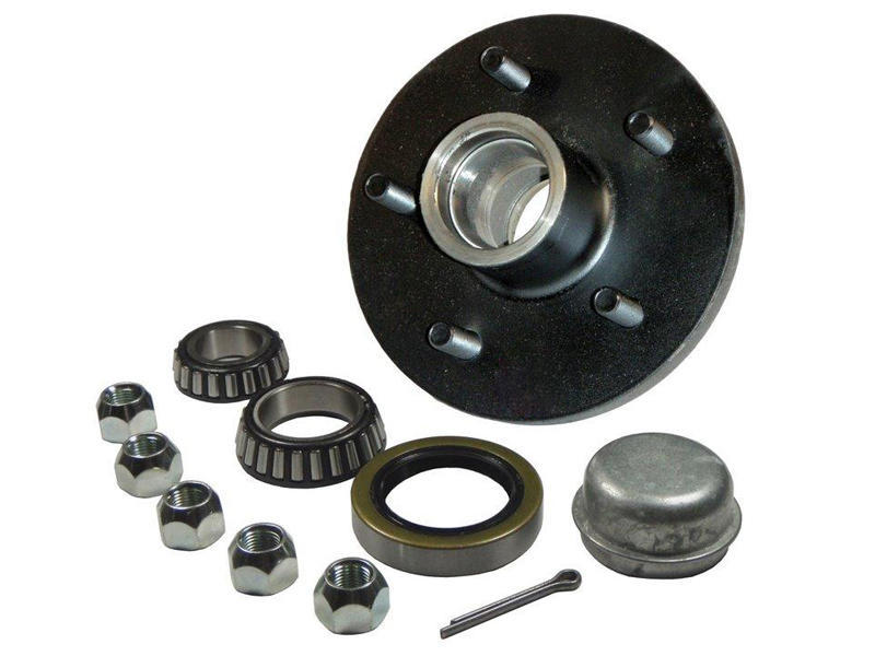 Trailer Hub Assembly- 1-3/8 Inner / 1-1/16 Outer Bearings