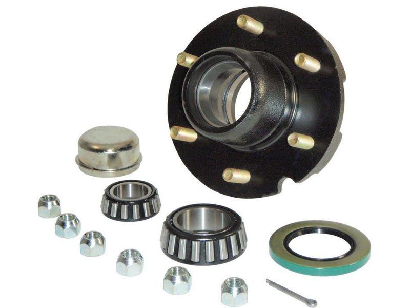 Trailer Hub Assembly- 1-3/4 Inner / 1-1/4 Outer Bearings