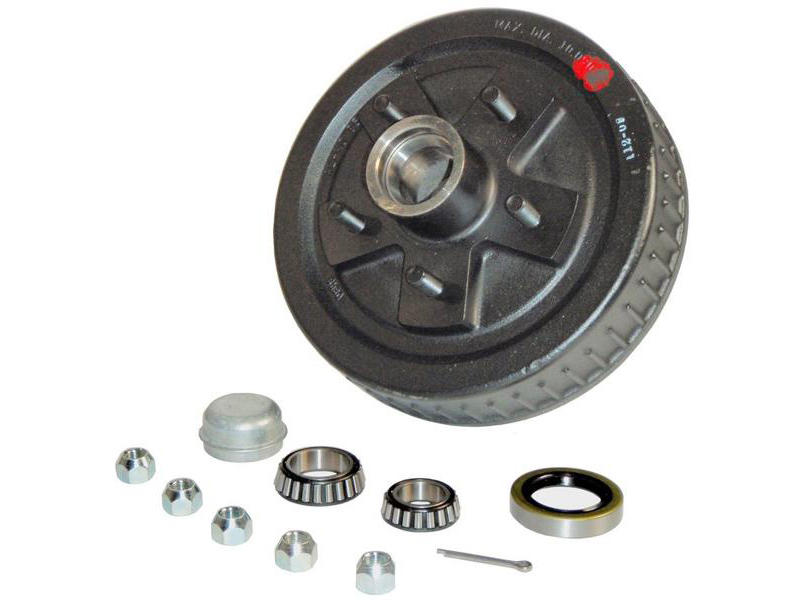 Trailer Hub-Drum Assembly- 1-3/8 Inner / 1-1/16 Outer Bearings