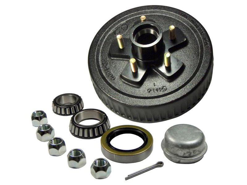 Trailer Hub-Drum Assembly- 1-3/8 Inner / 1-1/16 Outer Bearings