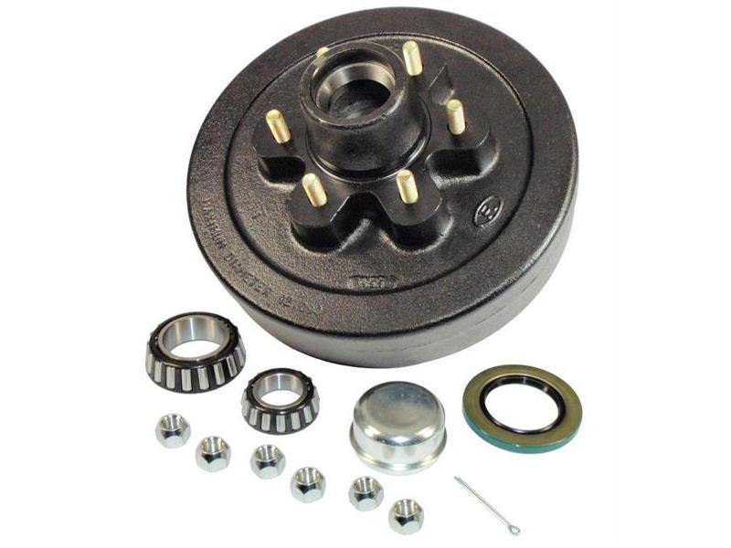 Trailer Hub-Drum Assembly- 1-3/4 Inner / 1-1/4 Outer Bearings