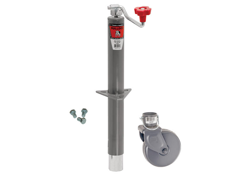 Heavy Duty A-Frame Trailer Jack With Wheel And Mounting Hardware