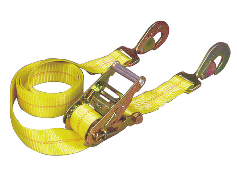 Ratchet Tie-Down with Twisted Snap Hooks