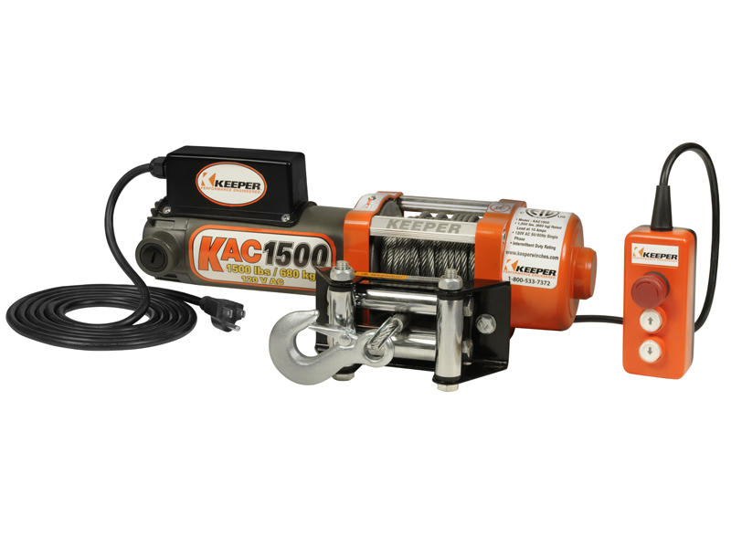 Keeper 110/120 Volt AC Electric Winch