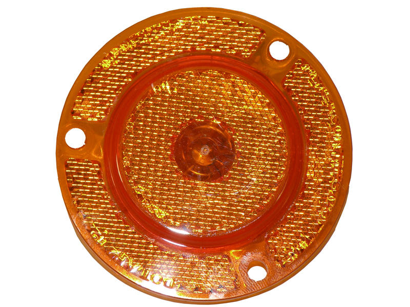 """2"""" Clearance/Marker Light With Integral Reflex - Amber"""