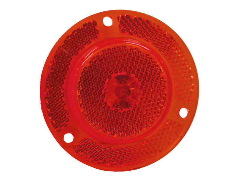 "2"" Clearance/Marker Light With Integral Reflex - Red"
