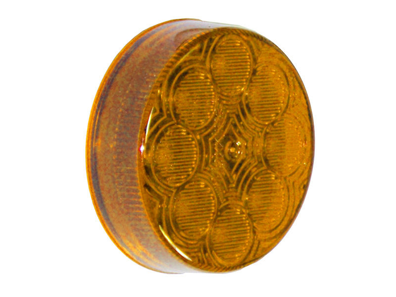 2 inch Round LED Side Marker Light - Amber