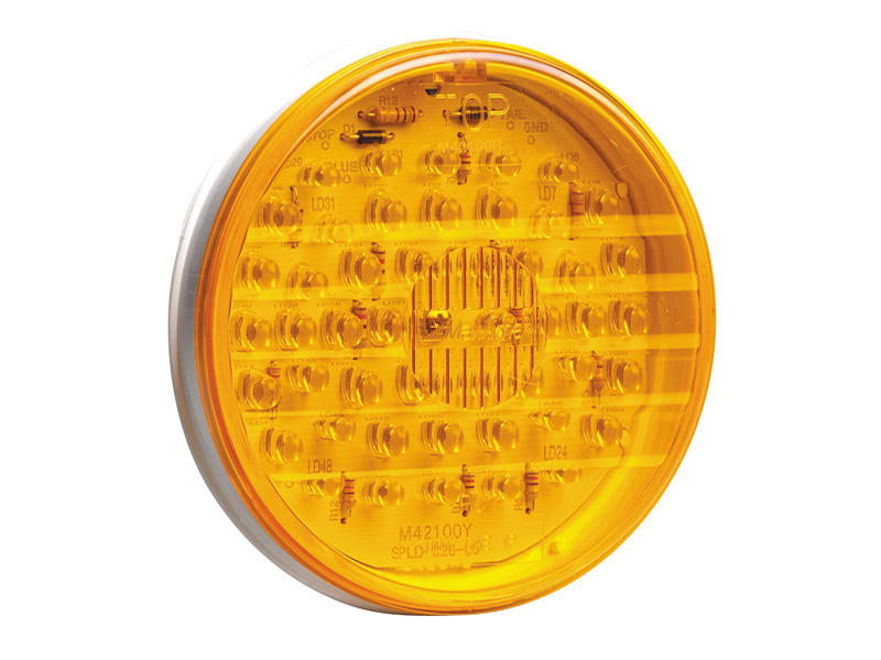"4"" Round LED Trailer Light- Amber"