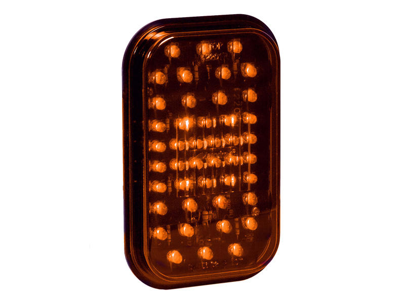 "5"" Rectangular LED Trailer Light- Amber"