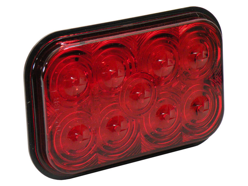 Rectangular LED Tail Light - Red