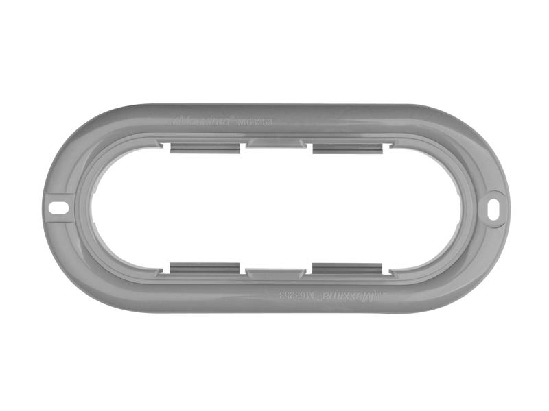 Gray Oval Mounting Flange
