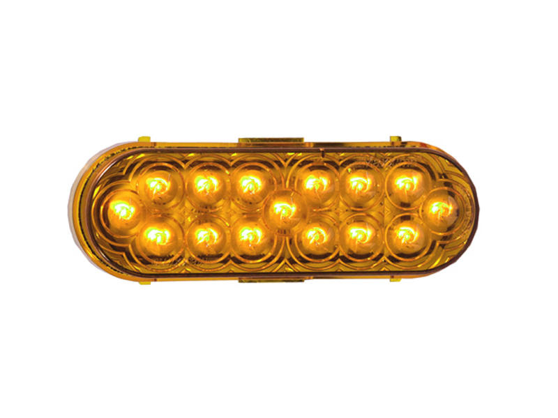 6 inch Oval LED Trailer Tail Light- Amber