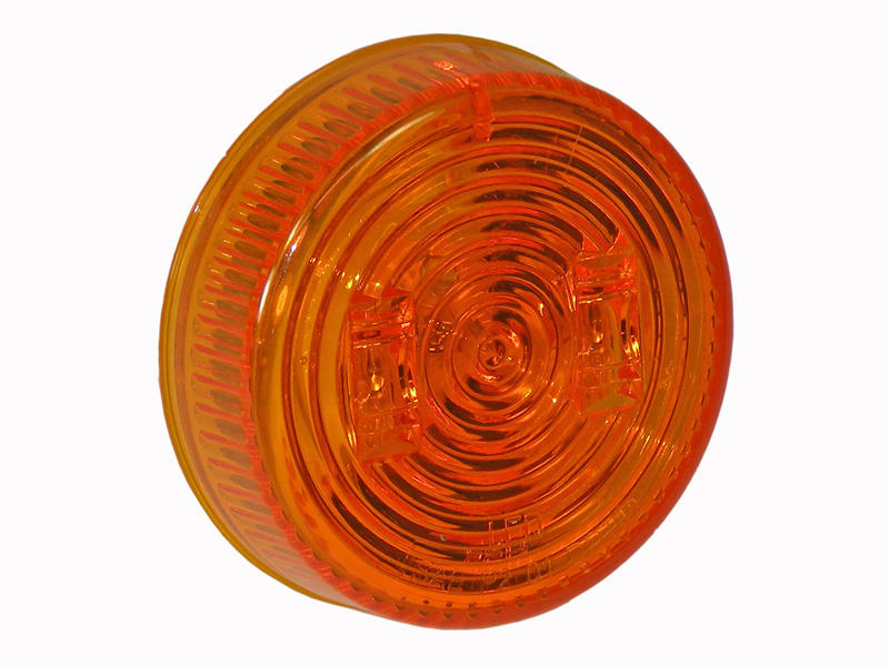 2-1/2 Inch Round Sealed LED Clearance/Marker Light- Amber